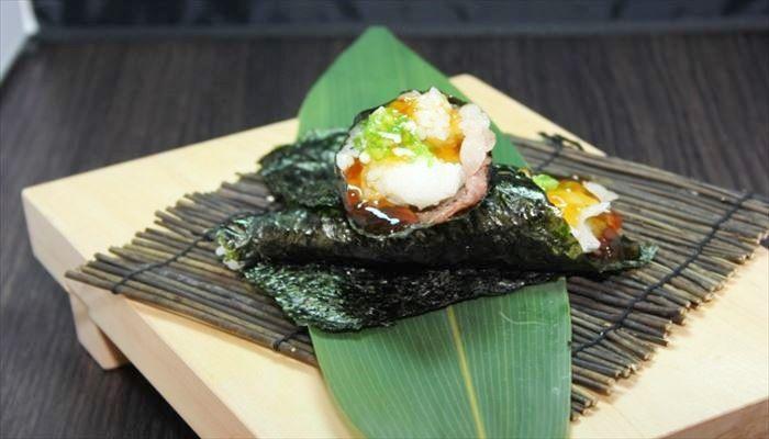 春 料理 手巻き寿司
