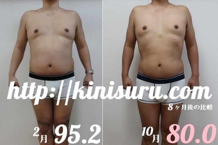 ダイエット8ヶ月目の比較画像 前