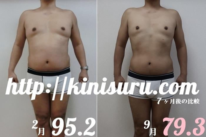 ダイエット 7ヶ月目の比較画像 前