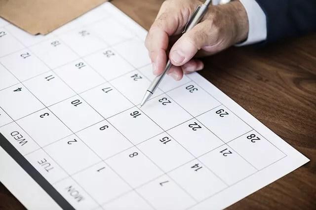 在籍カレンダー