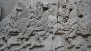 Parthenon carving closeup