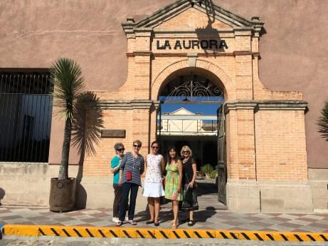 Entrance to La Aurora Center