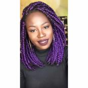 My Cyber friend.. Lioness,rocking purple bob braids. Retro Chic