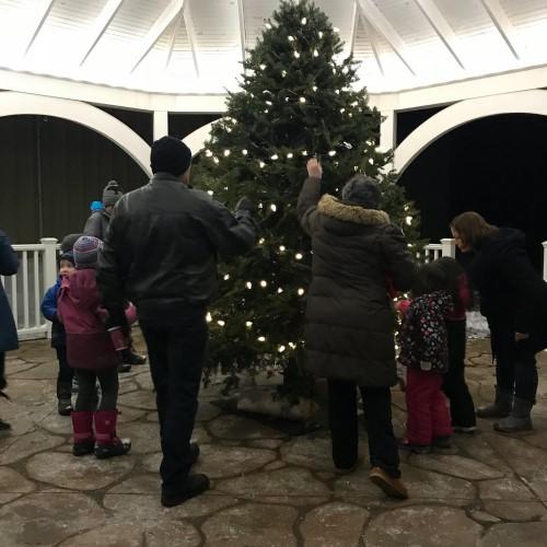 Christmas tree at Kinkora Place