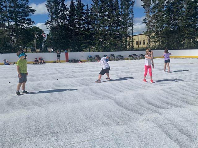 Kinkora outdoor rink in summer