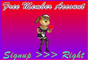 Kinky-Beaver Signup Right: Member Signup Area Navigation Support Banner
