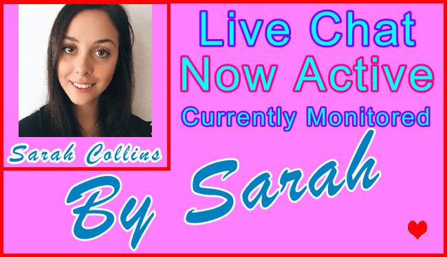 Sarah Special Live Chat Host - visitor information support banner