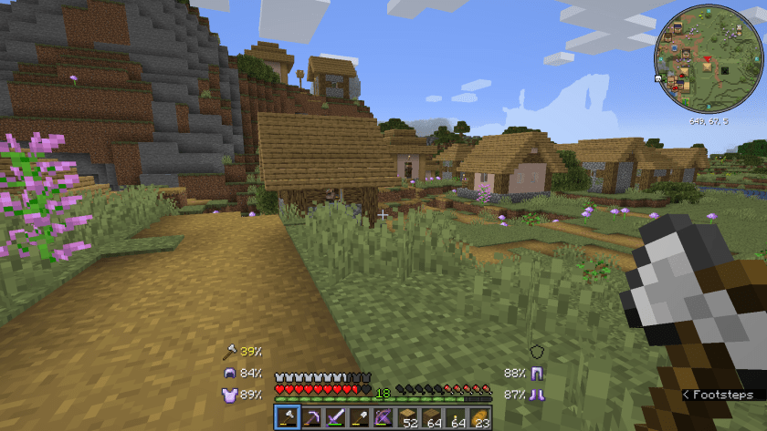 Looking over the village we found, two of the houses are on top of the mountain.