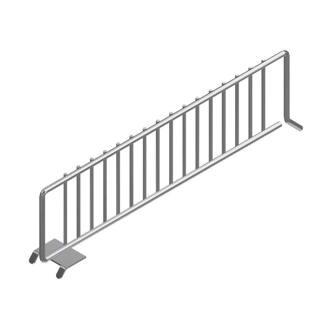 Metal Shelf Divider 14 Chrome