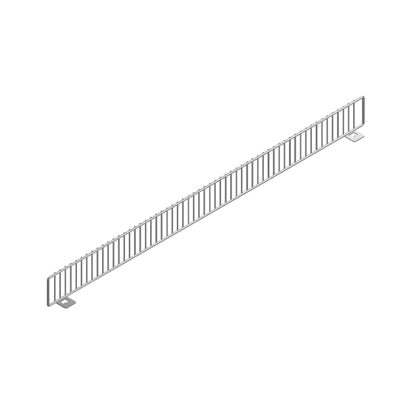Metal Shelf Fencing 30 Chrome