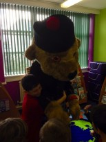 Hero bear pays a visit to Kinloss Primary School