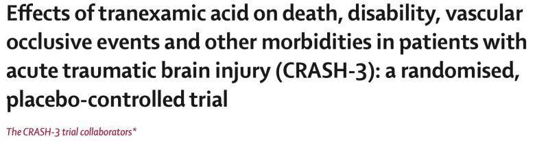 Tranexamic Acid in Trauma. CRASH-3 Title clip.