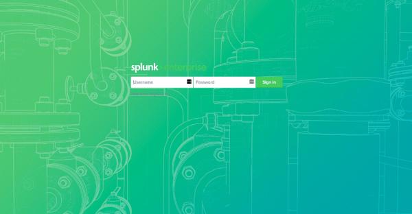 Figure 3 –Splunk Login with custom background