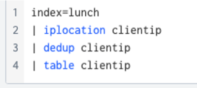 Figure 2 - Add clientip to your search