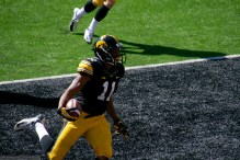 Kevonte Martin-Manley scores his second punt return touchdown of the day.