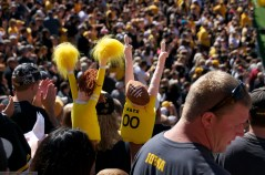 You never know what you'll see in the Kinnick Stadium crowd.