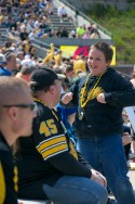 It's great to see the kids enjoying the day at Kinnick