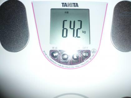 体重64・2キロの写真
