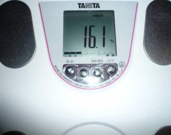 2ヶ月目終了の体脂肪率