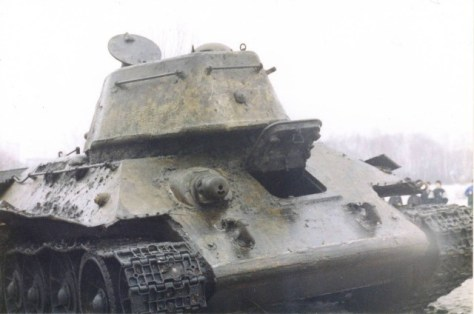 Раскопки танка Т-34