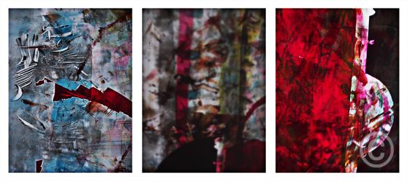 Empreintes lumineuses 123 - Rétro-production rouge © Prosper Jerominus, 2015
