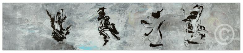 AABA (Le bleu guidant le peuple) © Prosper Jerominus, 2015