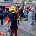 Speechless Provocation 1 - Berlin Against Far Right #DenNazisKEINEMITTE (No center fo Nazis)