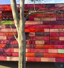 Platane and facade Fire and Police Station Feuerwache Tiergarten Berlin Alt Moabit SauerbruchHutton Architects, 2004