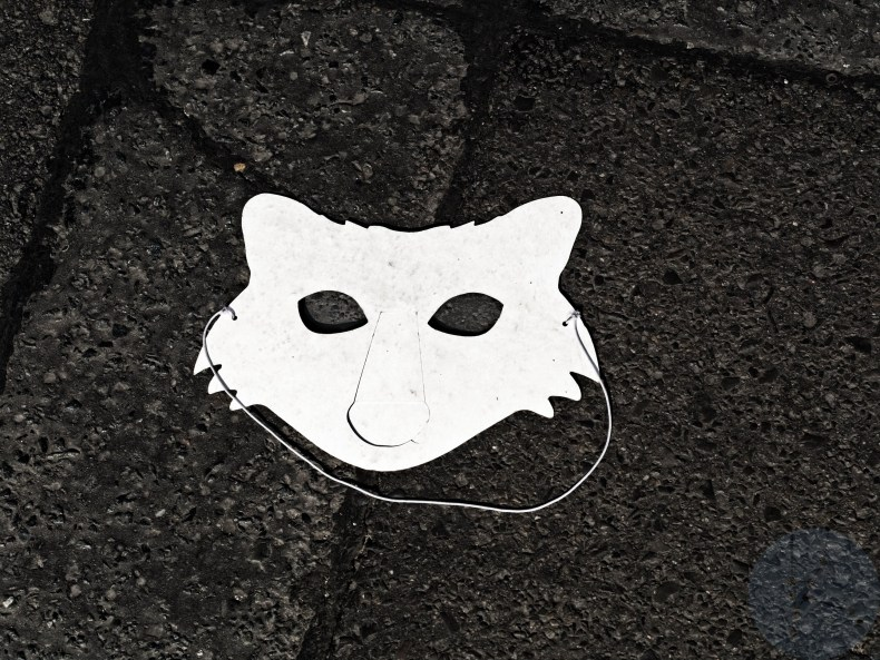 Look at me in the eyes - The Corona Fox mask