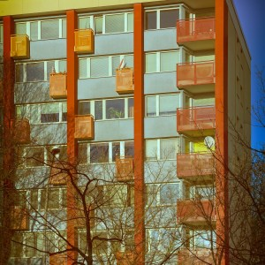 Orange crazy balconies