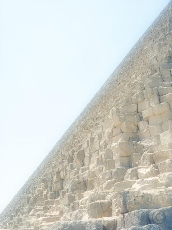 Horizon climb The Pyramid of Khafre (Cheffren) Biza, Egypt