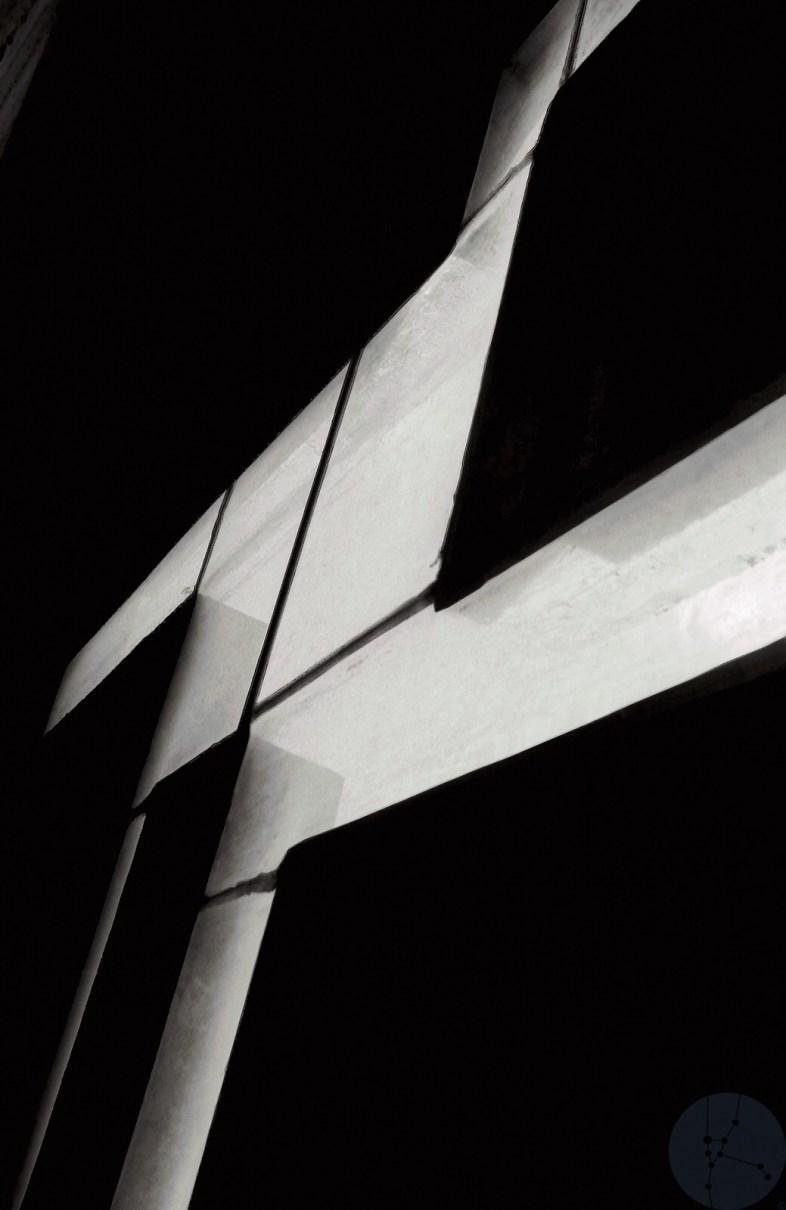 Print: Light collage on the way to the roof Limited edition (1-20) Le Corbusier architect - Couvent de la Tourette France 1953-1961 © Prosper Jerominus 2021