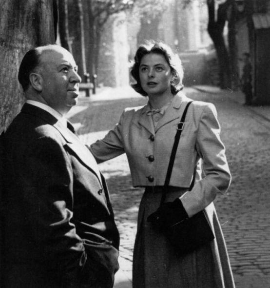 Alfred Hitchcock iIngrid Bergman (1948)