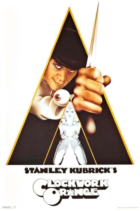Mechaniczna Pomarańcza (1971, reż. S. Kubrick) - plakat filmowy - kluczowy element marketingu filmowego