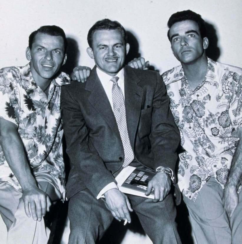 Frank Sinatra, James Jones iMontgomery Clift naplanie Stąd towieczności.