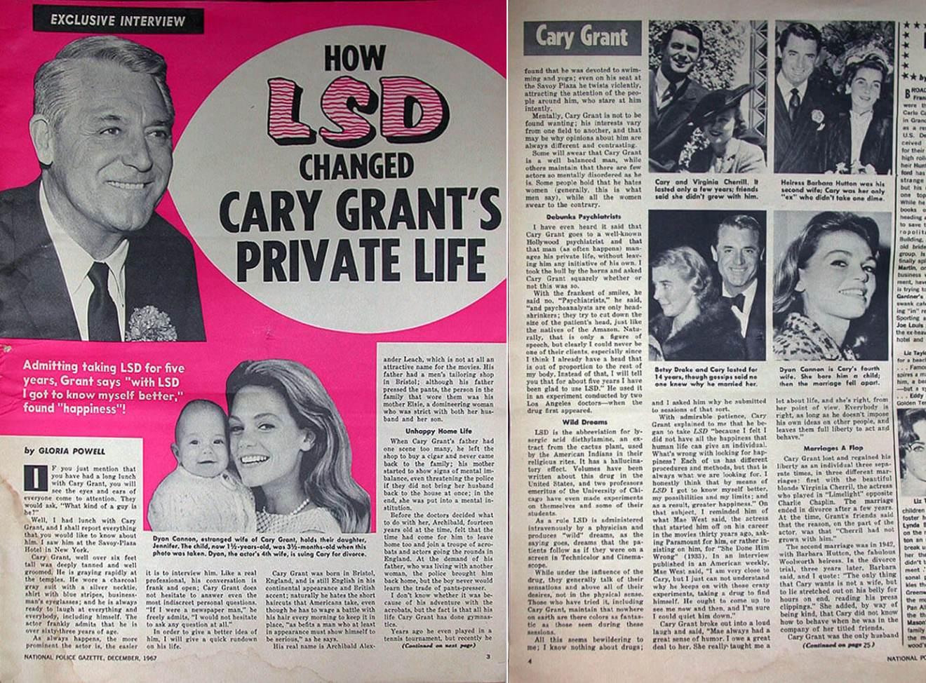 Cary Grant opowiada prasie oLSD