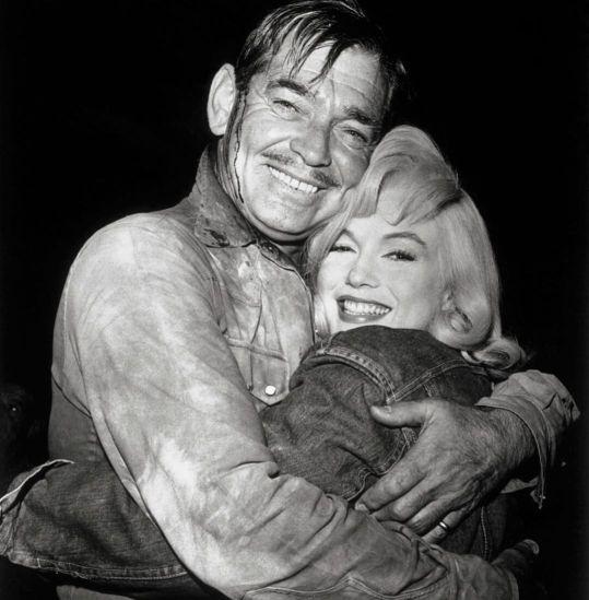 Marilyn Monroe iClark Gable naplanie filmu Skłóceni zżyciem (1961)