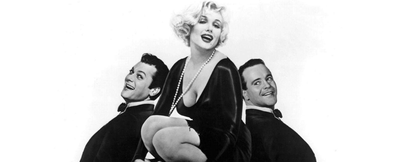 Plakat z filmu Pół żartem, pół serio - Marilyn Monroe, Tony Curtis