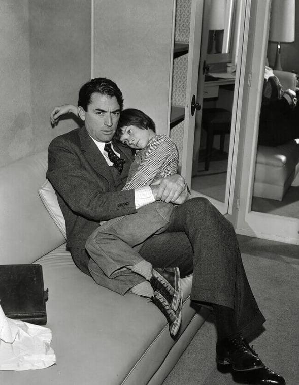 Gregory Peck jako Atticus Finch ifilmowa Scout naplanie Zabić drozda