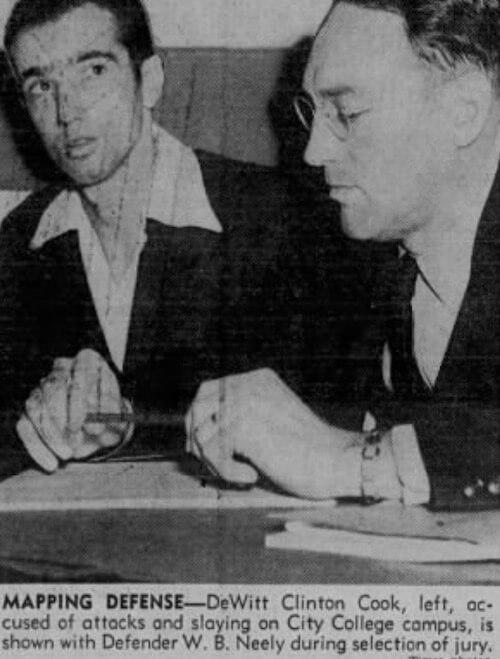 DeWitt Cook iobrońca W. B.Neely podczas rozprawy