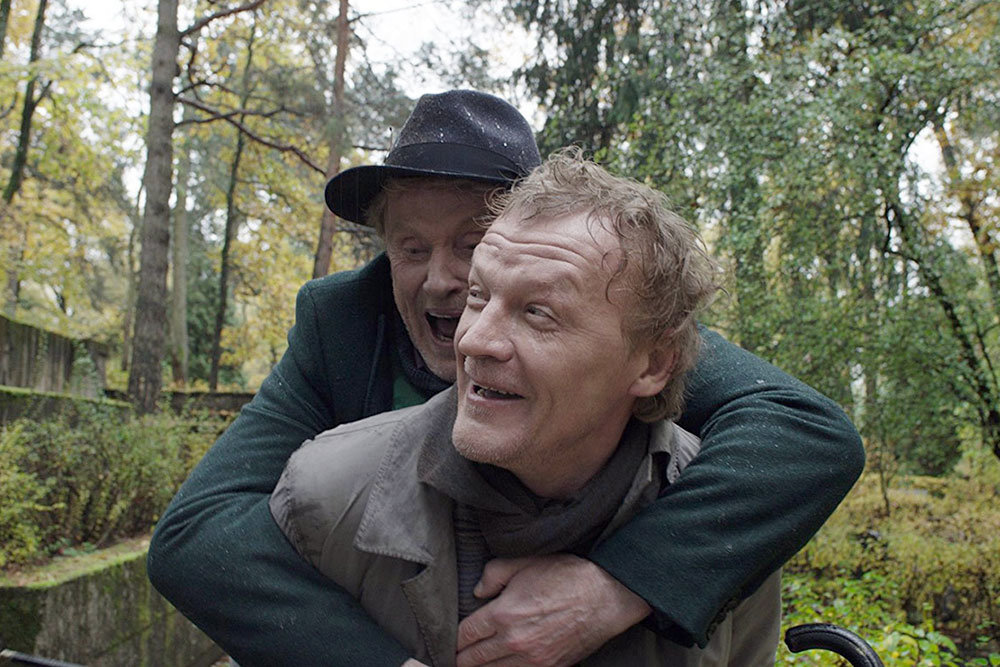 Two men laughing in a Russian film Van Goghs