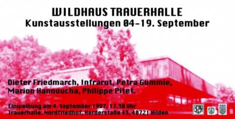 "Flyer ""Wildhaus Trauerhalle"" - Installation « Dels pès e de las mans » 1997"