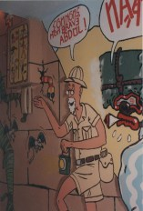 Peinture murale, détail - Artistic mural, detail - Un appartement // A flat 1989