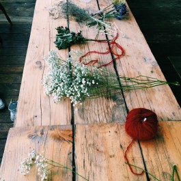 Ksenia collected and dried flowers and herbs weeks ahead of the event