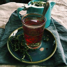 An amazing discovery - fresh thyme tea! The scent is mind-blowing