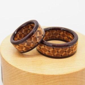 木婚式に木の指輪