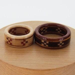 木婚式 指輪 ミンサー