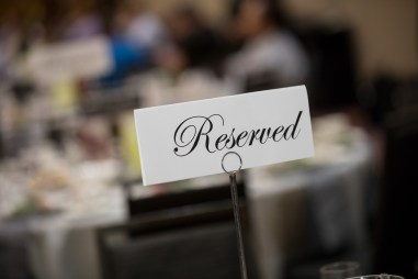 reserved sigh at conference