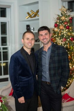 gay couple at holiday party, corporate holiday party, corporate event, denver holiday party photographer, event holiday photographer