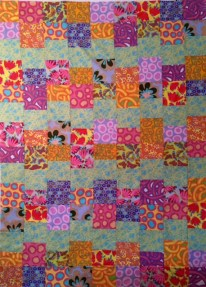 Cloud Nine Quilt Top in Citrus Colors by Ruth Bass